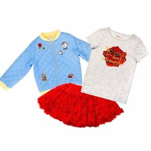 Disney by Tutu Couture Girls' 3-pc Set, Belle 5/6